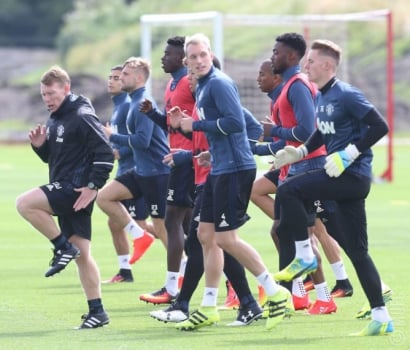 Treino do Manchester United