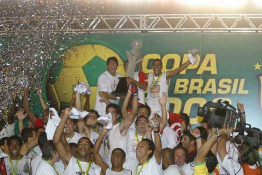 Vasco 0x1 Flamengo - Jogadores comemorando título da Copa do Brasil - 26/7/2006