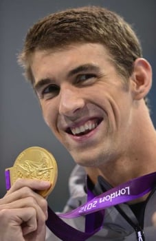 Michael Phelps Londres (foto:AFP)