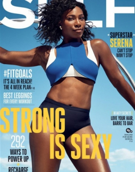 Serena Williams na capa da SELF Magazine