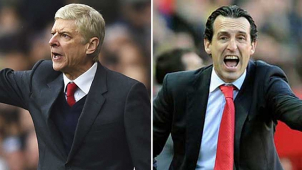 Arsene Wénger (Arsenal) x Unai Emery (PSG)