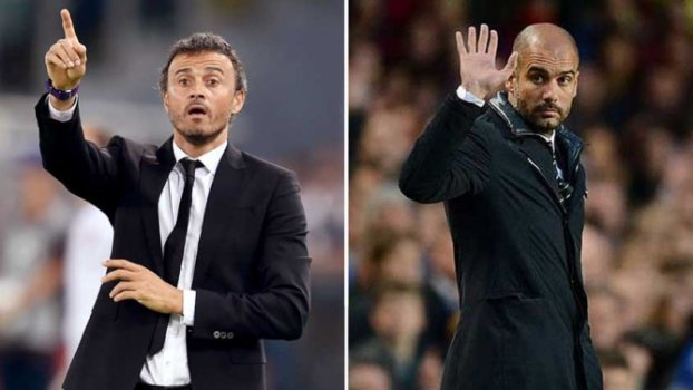 Luis Enrique (Barcelona) x Pep Guardiola (Manchester City)