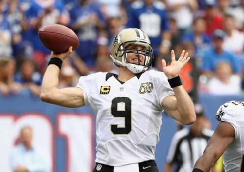 NY Giants x New Orleans Saints  - Drew Brees