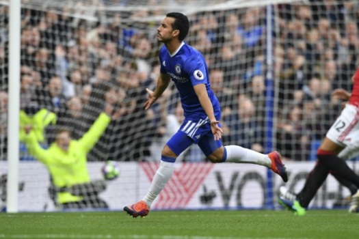 Pedro - Chelsea x Manchester United