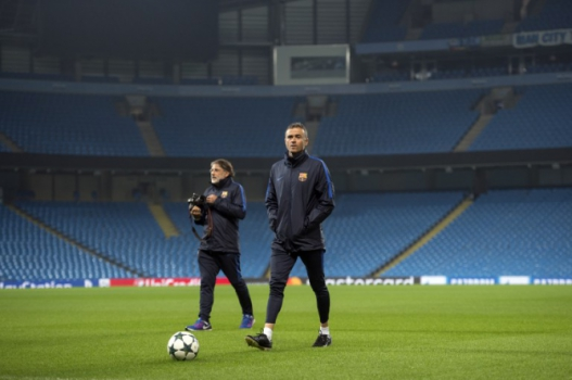 Luis Enrique no Etihad Stadium
