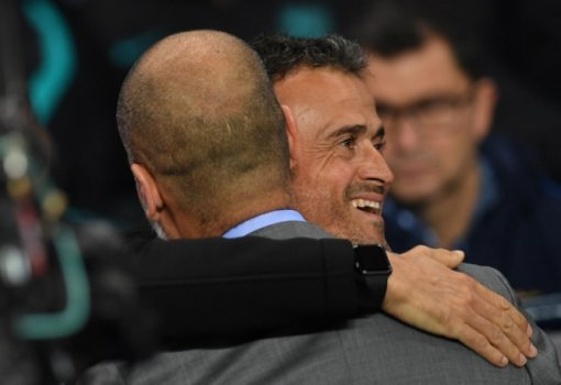 Pep Guardiola e Luis Enrique - Manchester City x Barcelona