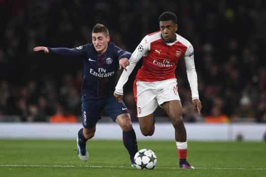 Iwobi e Verratti - Arsenal x PSG