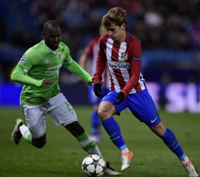 Willems e Griezmann - Atlético de Madrid x PSV