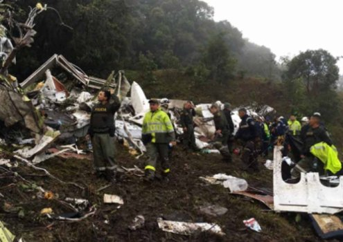 acidente chapecoense, local da queda