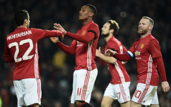Martial, Mkhitaryan e Rooney - Manchester United x West Ham