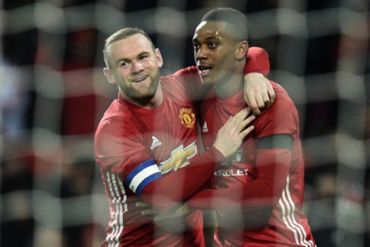 Rooney e Martial - Manchester United x West Ham