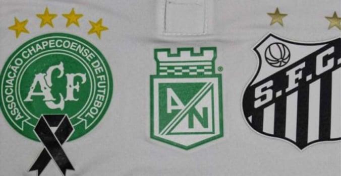 71ea20c67c74b FOTOS! Veja camisas que clubes usarão para homenagear a Chape