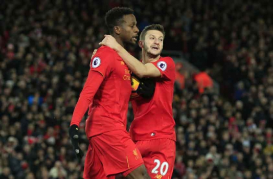 Origi e Lallana - Liverpool x West Ham