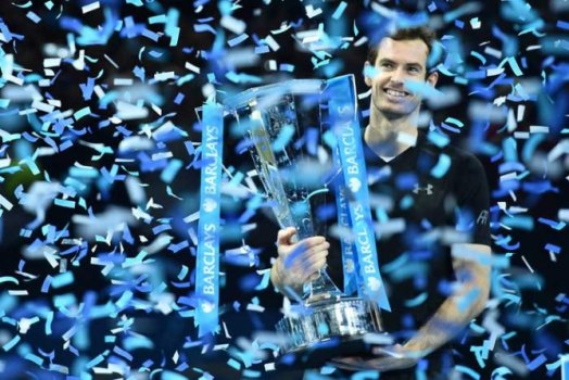 Foto do ano - Andy Murray Celebrando a vitória no ATP World Tour