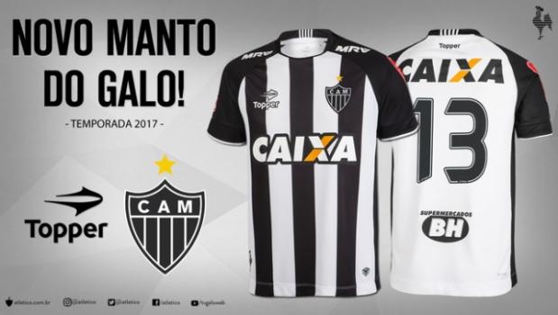Atlético-MG apresenta novos uniformes para temporada 2017  b1c3ff631d4c1