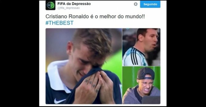 "Eleição de CR7 como ""The Best"" de 2016 rende memes"