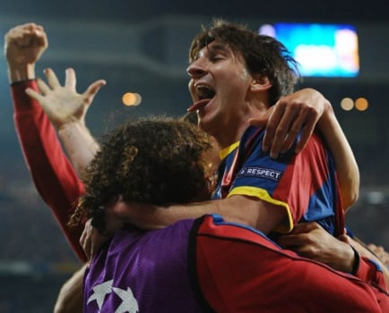 Entre as temporadas 2008/2009 e 2011/2012 o domínio foi de Lionel Messi, do Barcelona