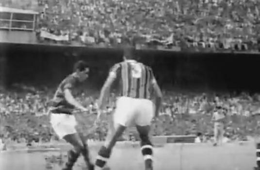 c2b1aafa4b Flamengo 0x0 Fluminense - 1963 (Foto  Reprodução   Canal 100)