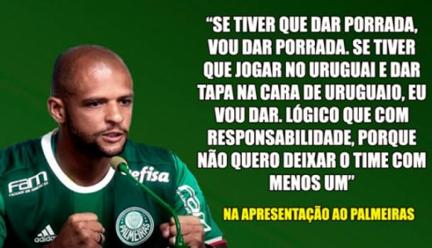As 10 Frases Mais Ousadas De Felipe Melo Pelo Palmeiras Lance