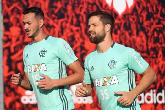 Diego e Réver - Treino do Flamengo