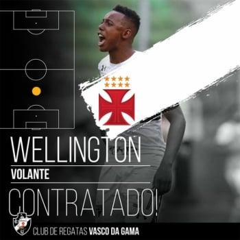 Vasco anuncia contratação do volante Wellington para o Brasileirão