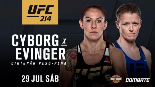 Cris Cyborg vs Tonya Evinger é o novo co-evento do UFC 214