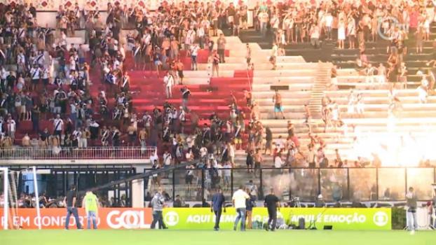Imagens da confusão em São Januário - Vasco x Flamengo
