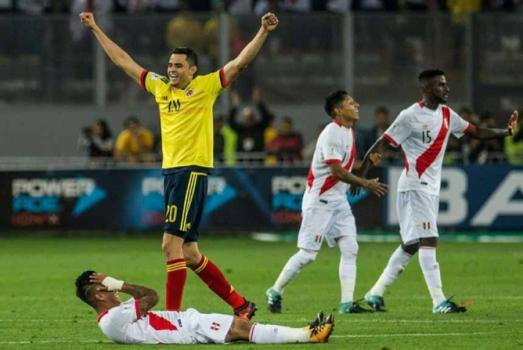 A Colômbia abriu o placar e quase tirou o Peru da Copa. Mas o empate por 1 a 1 valeu a repescagem aos peruanos. Os colombianos já estão na Rússia