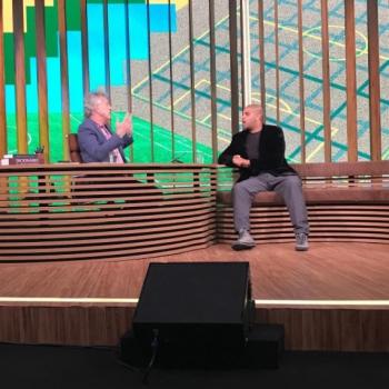 Adriano e Pedro Bial