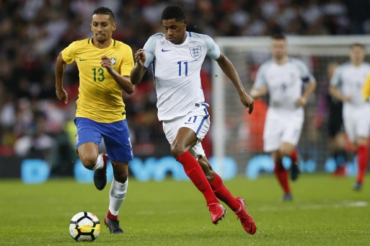 Rashford e Marquinhos - Inglaterra x Brasil