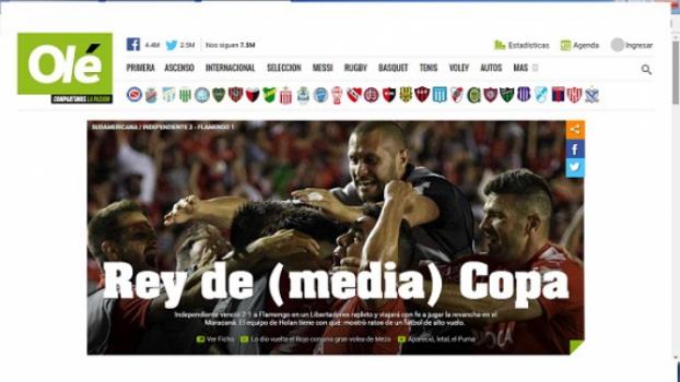 O diário 'Olé' fez um trocadilho com o apelido do time local