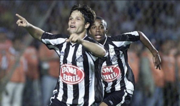 Diego comemorou a vitória sobre o São Paulo nas quartas de final Brasileiro  de 2002 pisando d0ce6c7701619