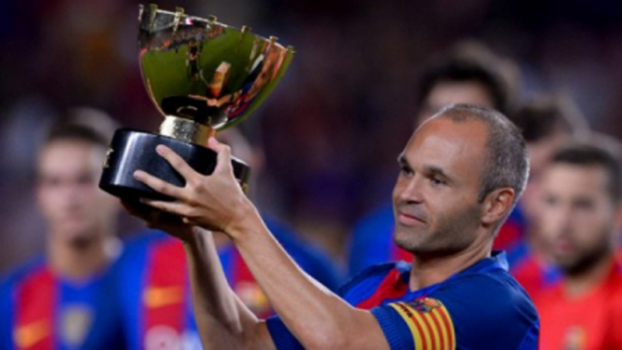 Iniesta troféu do Joan Gamper 2017