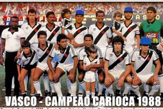 Vasco campeão carioca de 1988 - pôster