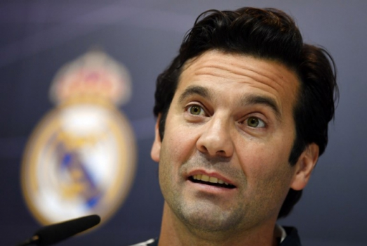 Solari na coletiva do Real Madrid