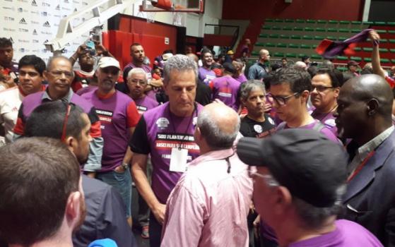 Eleições no Flamengo - Bandeira cumprimenta Landim