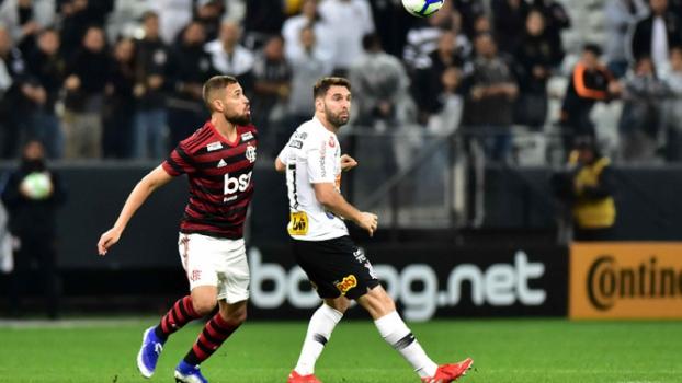 Corinthians x Flamengo Leo Duarte e Boselli