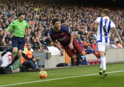 Barcelona superou a Real Sociedad no Camp Nou (Foto: Lluis Gene / AFP)