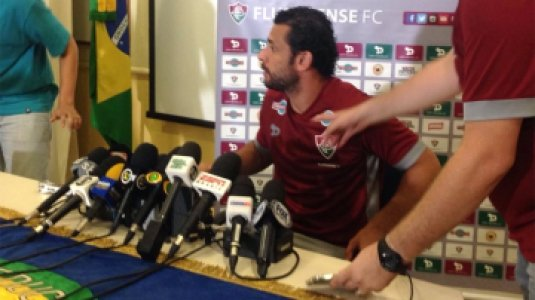 HOME - Entrevista coletiva no Fluminense - Fred (Foto: Matheus Babo/LANCE!Press)