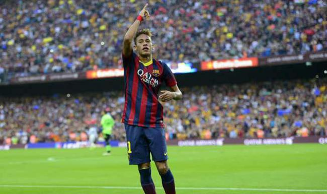 26/10/2013 - Barcelona 2x1 Real Madrid - gol de Neymar