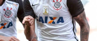 HOME - Uniforme do Corinthians - Caixa (Foto: LANCE!Press)