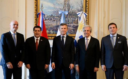 Argentina, Paraguai e Uruguai lançam candidatura da Copa de 2030