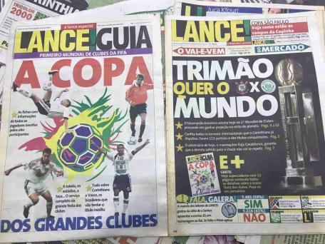 Timao Relembra Inicio Do Mundial De 2000 Com Capa Do Lance Em Post Futebol Addict