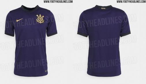Site publica fotos vazadas do novo terceiro uniforme do Corinthians