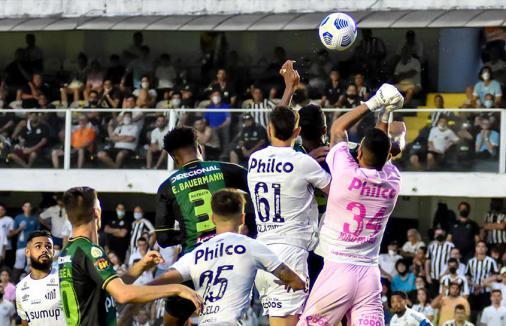 Santos perde para o América-MG na Vila e se complica no Brasileirão