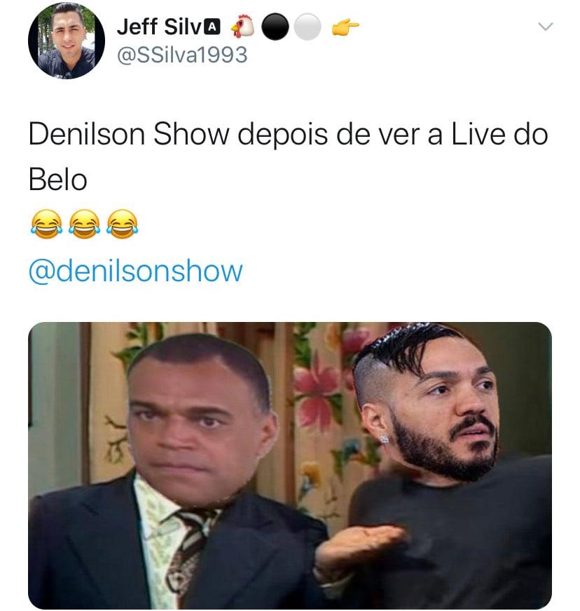 Web não perdoa e memes com Denílson fazem sucesso durante live de ...